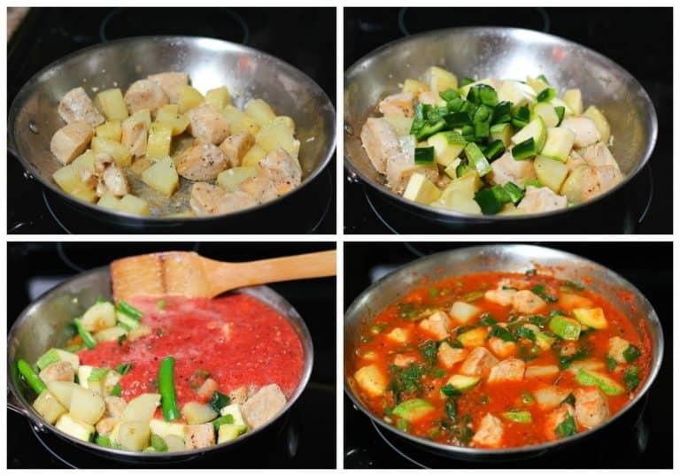 pechugas de pollo con verduras │Instrucciones paso a paso, muy fácil y delicioso