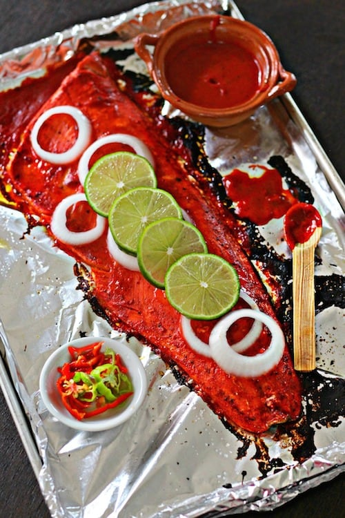Salmón asado al estilo Yucatán │Recetas de comida mexicana
