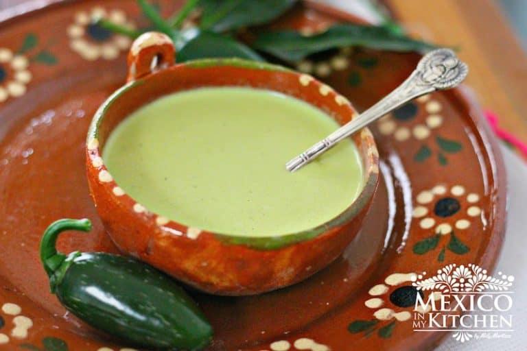 Salsa Cremosa de Jalapeño │comida mexicana