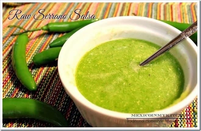 Salsa cruda de Chile Serrano │Salsas Mexicanas