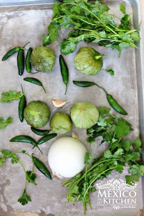 Salsa verde cruda │Ingredientes para preparar esta deliciosa salsa