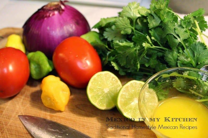 salsa xnipec │Ingredientes