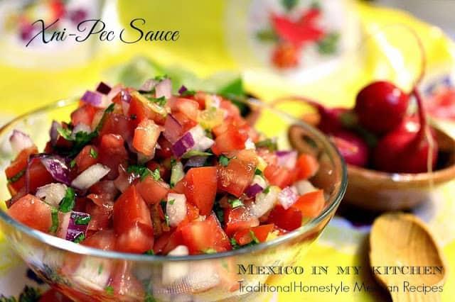salsa xnipec │Ensaladas mexicanas