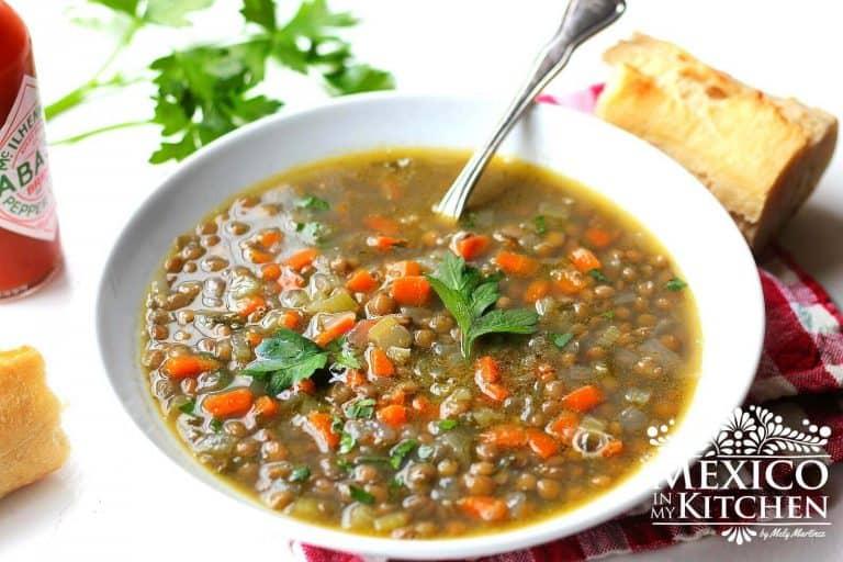 Sopa de Lentejas para disfrutar en familia