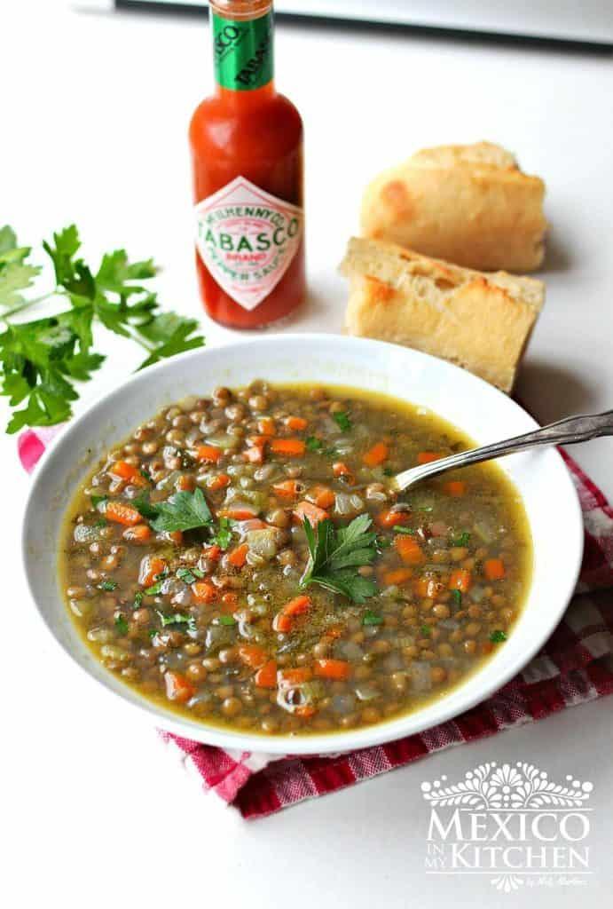Cocinar Lentejas.Cómo Hacer Sopa De Lentejas Recetas De Comida Mexicana