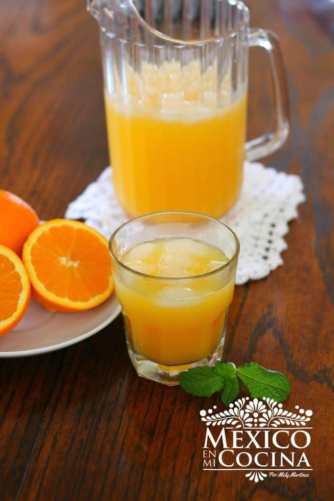 agua de naranja receta | Aguas frescas Mexicanas
