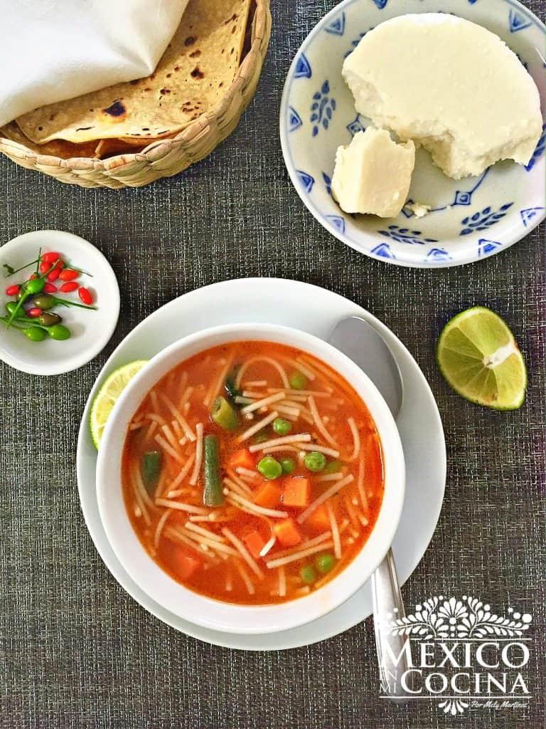 Receta de sopa de fideo | Receta Mexicana
