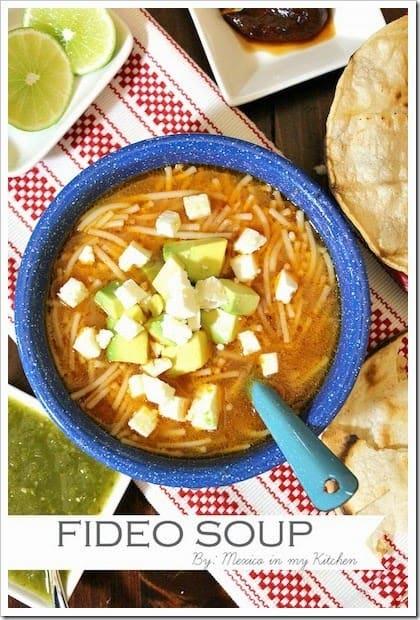 sopa de fideo mexicana │Recetas de comida mexicana