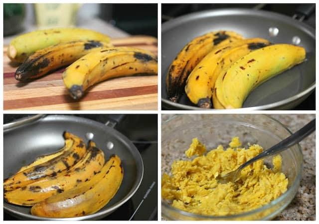 Instrucciones paso a paso para preparar Molotes de Plátano