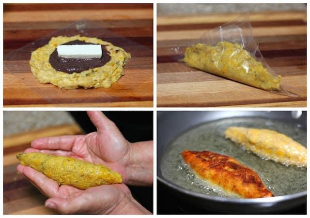 sigue este sencillo tutorial para preparar Molotes de Plátano
