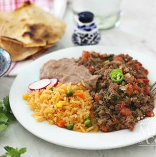Carne Molida a la mexicana