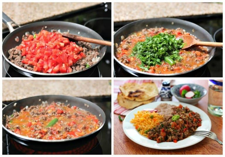 Receta de carne molida super fácil de preparar