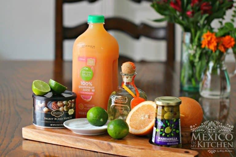 Ingredientes para preparar receta de Cóctel Paloma │Bebidas mexicanas