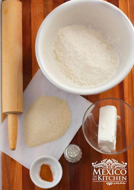 Ingredientes para preparar la receta hojarascas