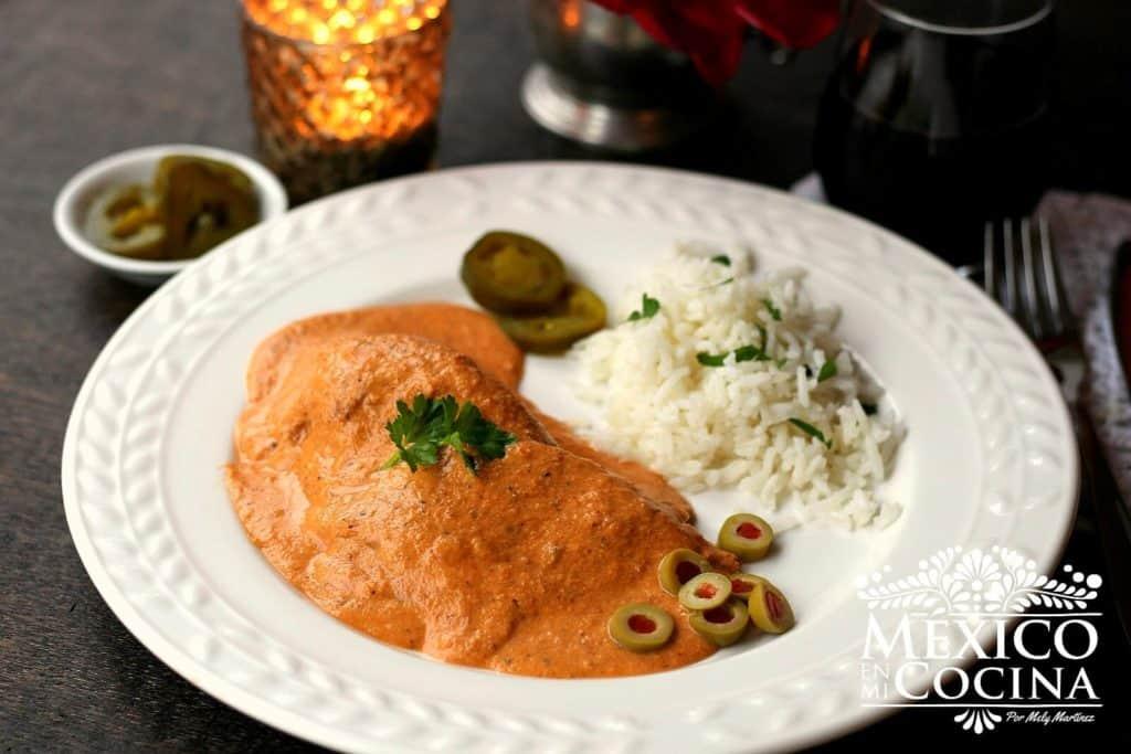 Lengua de res en salsa de almendras | recetas mexicanas