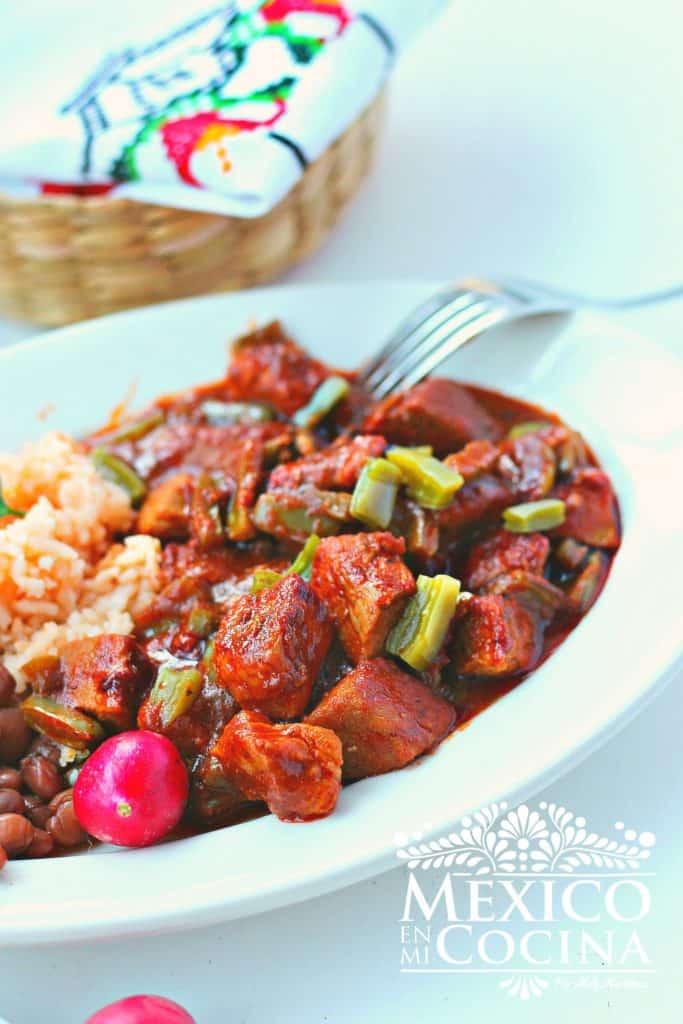 receta de chile colorado con cerdo - puerco | Recetas Mexicanas