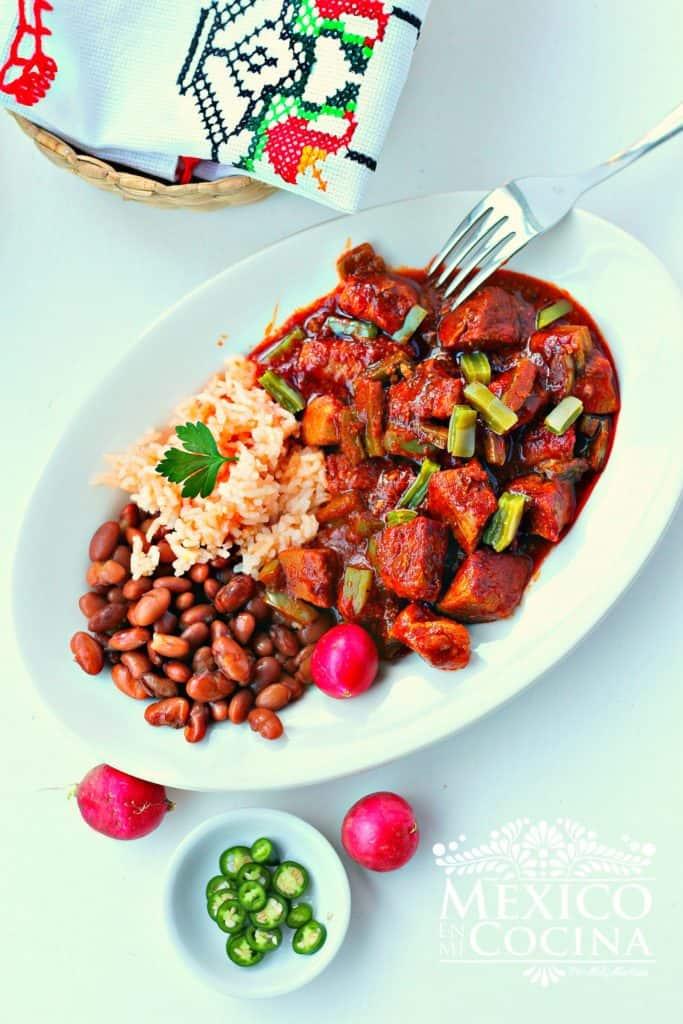 receta de chile colorado con cerdo |Receta mexicana