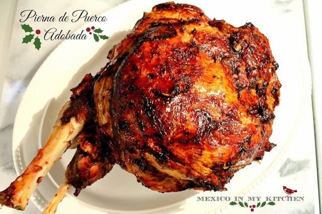 Pierna de cerdo adobada │Recetas navideñas mexicanas