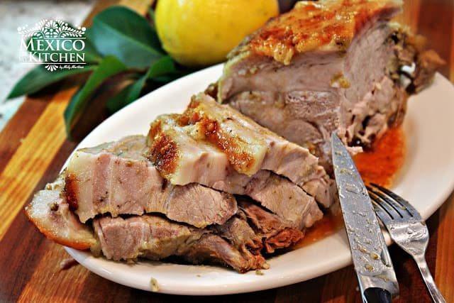 Pierna de cerdo al horno │Recetas navideñas