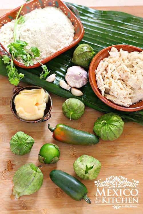 Ingredientes para preparar tamal de cazuela