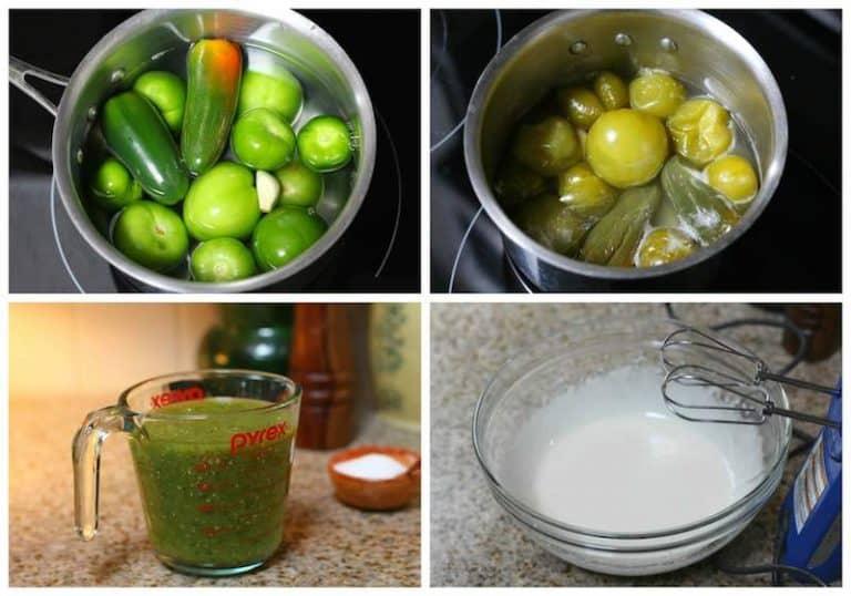 Instrucciones para preparar la salsa, tamal de cazuela