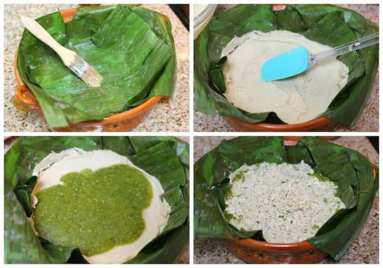 Preparado el tamal de cazuela