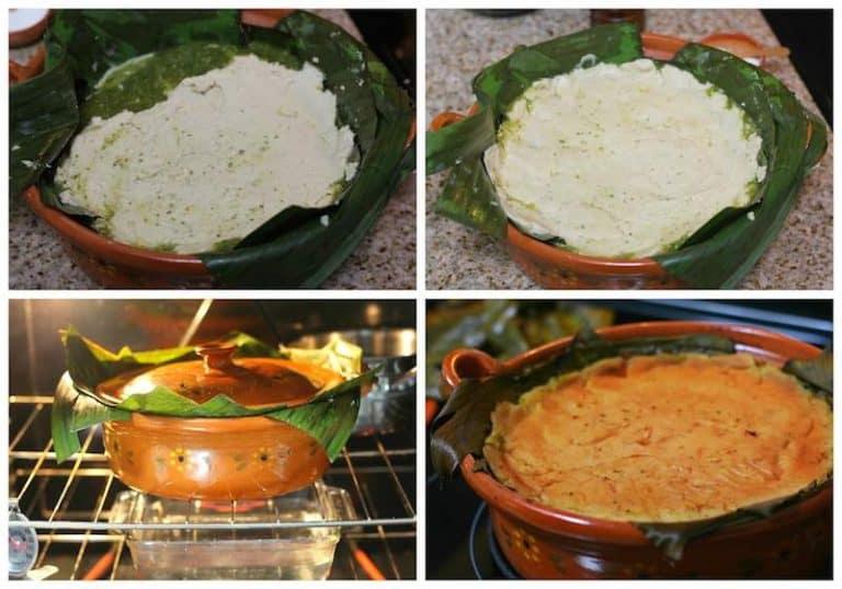 Instrucciones para cocinar el tamal de cazuela