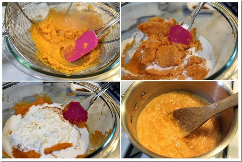 Instrucciones paso a paso para preparar atropellado de Camote y Coco estilo Yucatán
