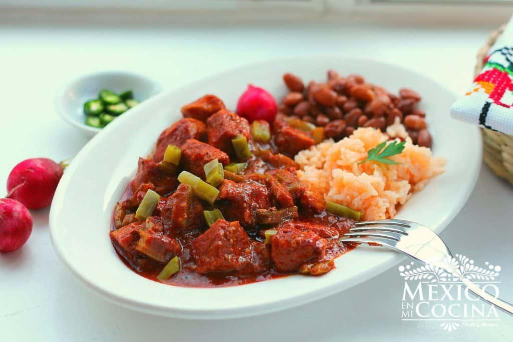 receta de chile colorado con cerdo |Recetas Mexicanas