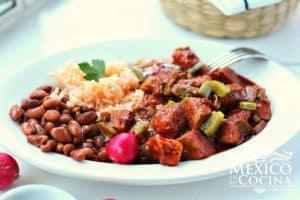 receta de chile colorado con cerdo