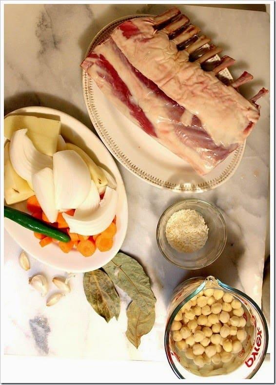 Ingredientes para preparar esta deliciosa receta de barbacoa de borrego
