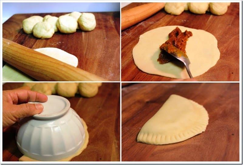 instrucciones paso a paso para preparar empanadas de calabaza