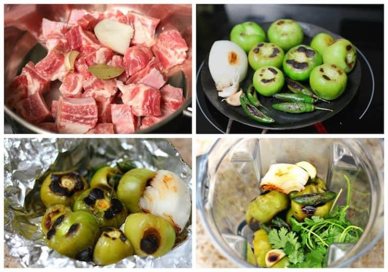 Instrucciones paso a paso para preparar costillas de cerdo en salsa verde