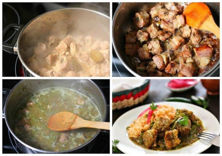 Sigue este sencillo tutorial para preparar costillas de cerdo en salsa verde