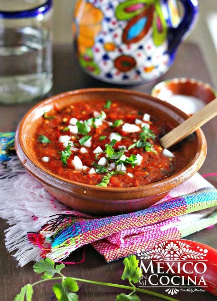 salsa de jalapeño rojo asado - recetas mexicanas -4