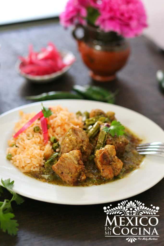 receta de costillas de puerco - cerdo en salsa verde
