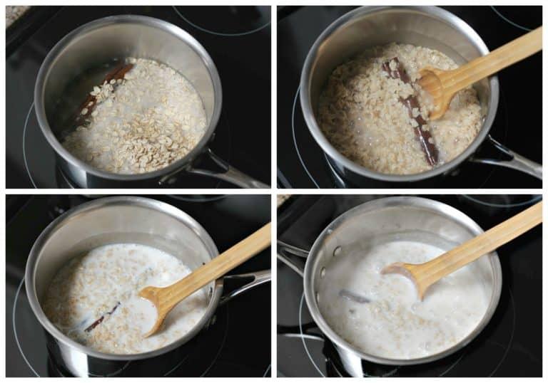 Instrucciones para preparar avena con leche