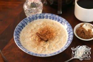 receta de avena con leche