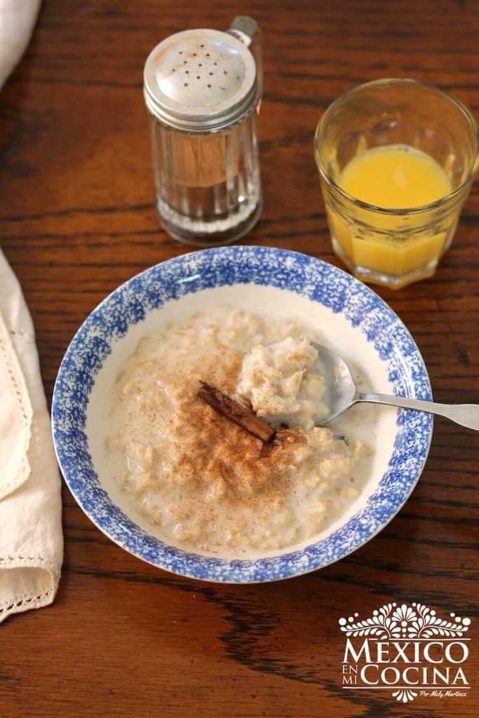 receta de avena con leche - recetas mexicanas -1