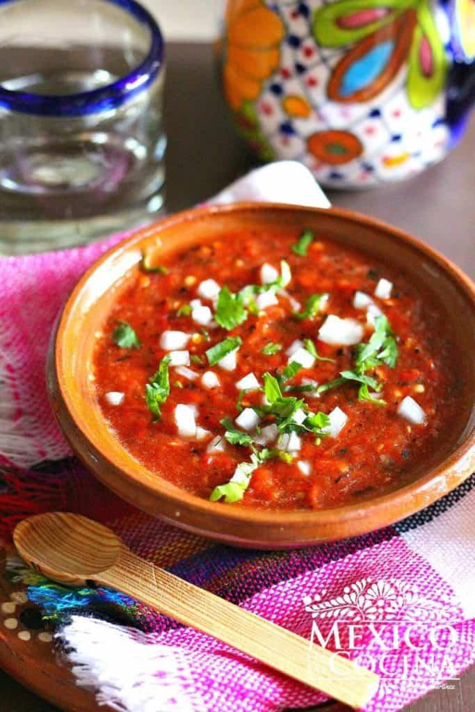 salsa de jalapeño rojo asado - recetas de mexicanas -1