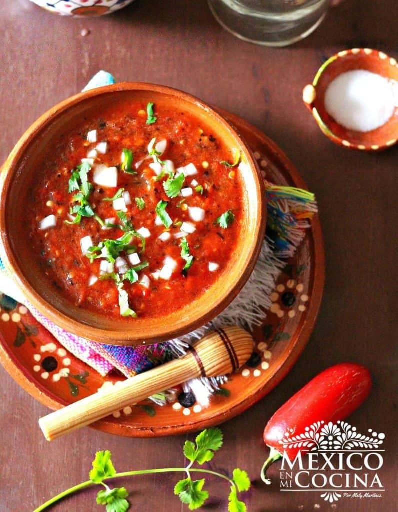 salsa de jalapeño rojo asado - Recetas Mexicanas - 5
