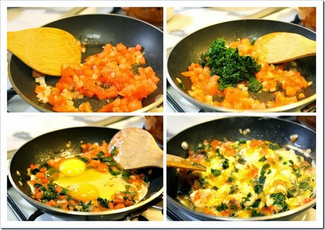 Receta de huevos revueltos con chaya, comida mexicana