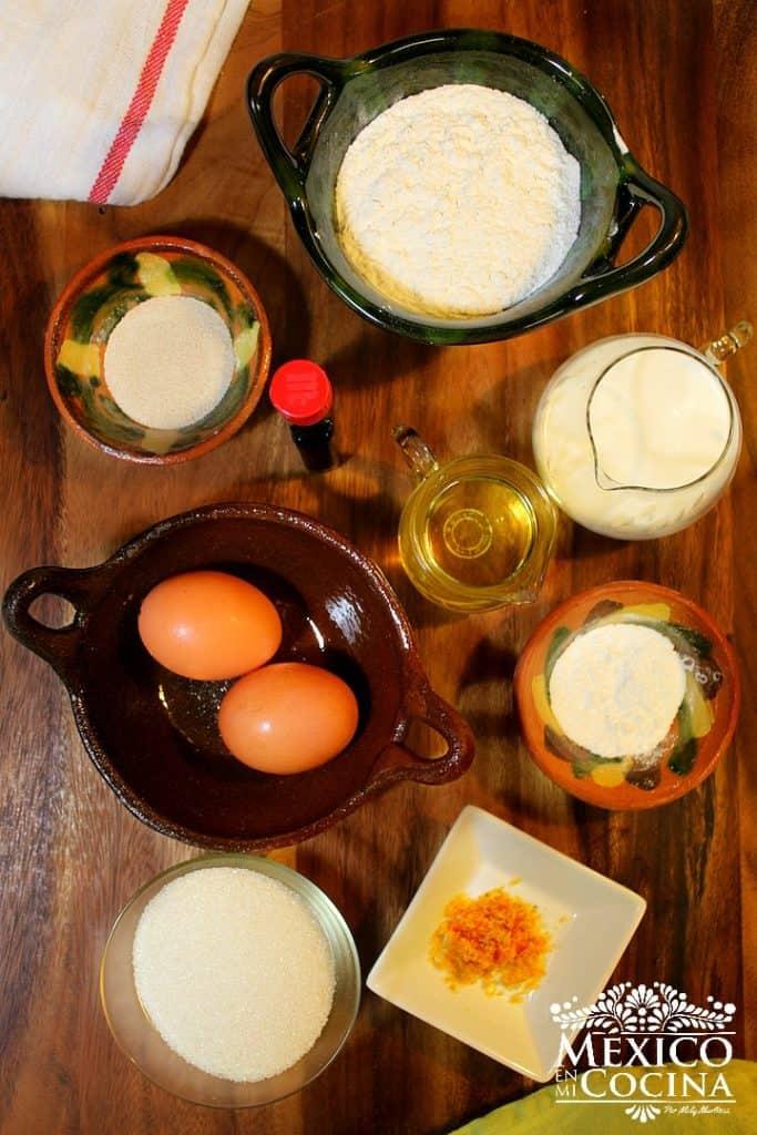 Ingredientes para hacer mantecadas