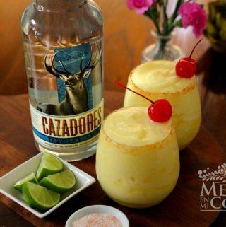 Margarita de piña congelada