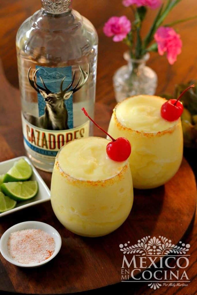 Margarita de piña receta | Recetas Mexicanas