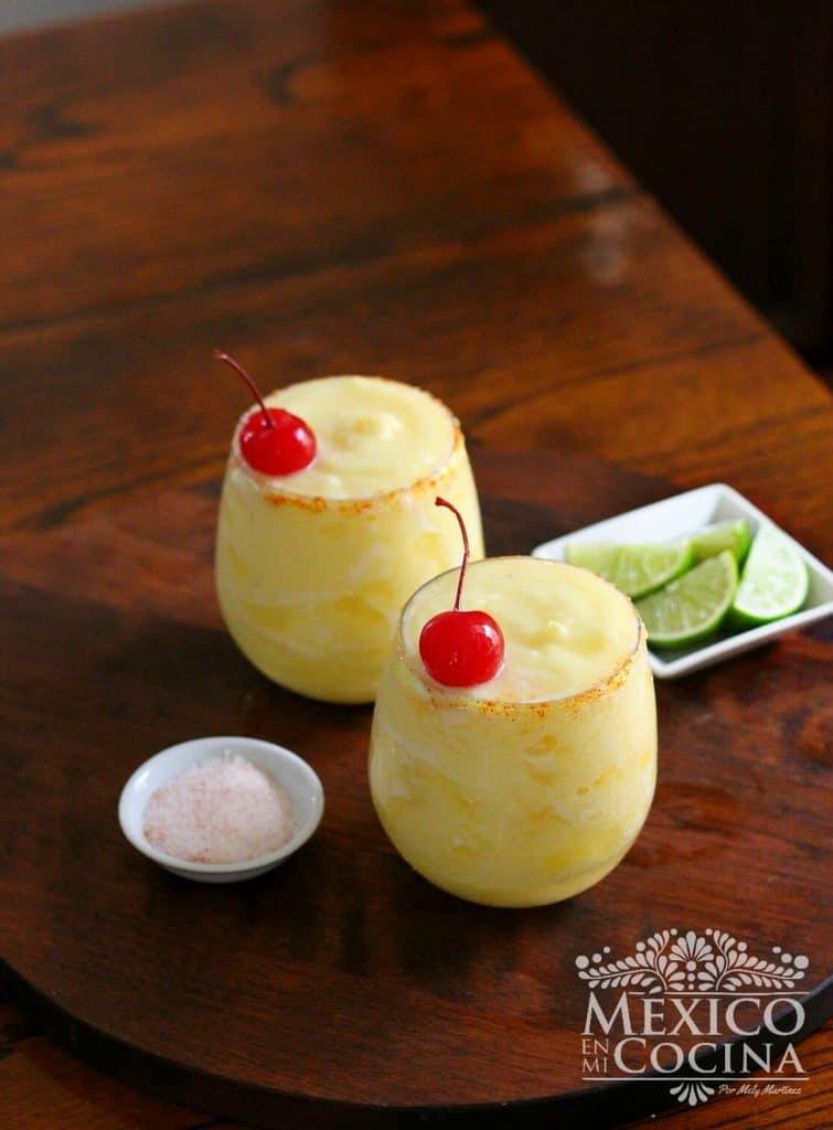 Margarita de Piña Congelada | receta mexicanas