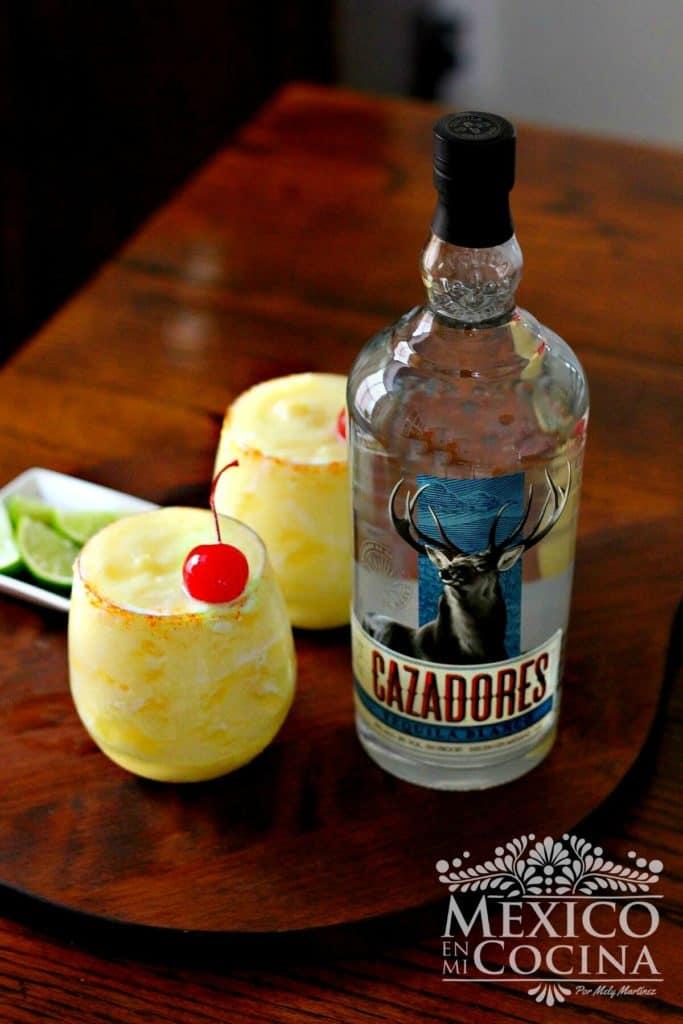 Receta Margarita de piña congelada - Receta Mexicanas