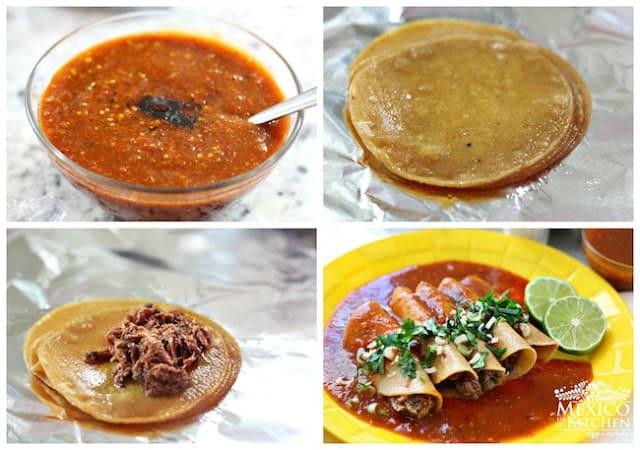 Instrucciones paso a paso para preparar Tacos Tlaquepaque