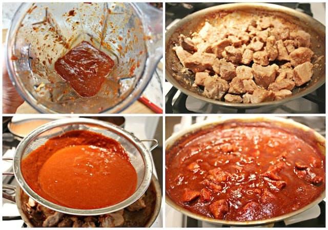 Instrucciones para preparar la salsa para el asado de puerco