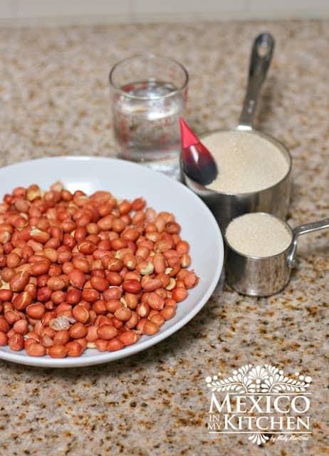 Cacahuates Garapiñados, receta mexicana